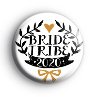 Pretty Black and Gold Bride Tribe 2020 Badge thumbnail