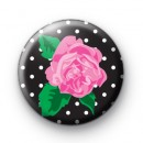 Pretty Pink Rose Button Badges