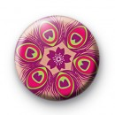 Pink Peacock Pattern Badges