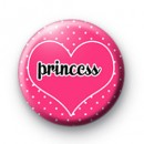 Princess Pink Polka Dot badges