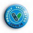 Proudly Vaccinated COVID Blue Badge