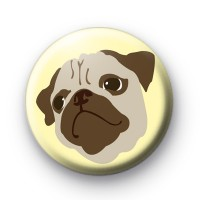 PUG Dog Button Badges