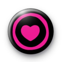 Black and Pink Punk Heart badge