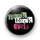 Punk Rock Girl Button Badge