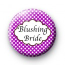 Purple Polka Dot Blushing Bride Badges