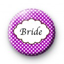 Purple Polka Dot Bride Badges