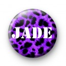 Purple Leopard Print Name Badges