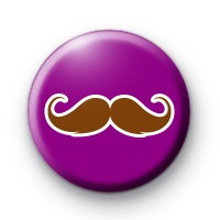 Purple and Brown Moustache Badge