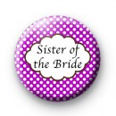 Purple Polka Dot Sister of the Bride Badges