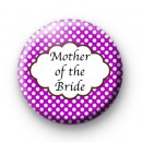 Purple Polka Dot Mother of the Bride Badge