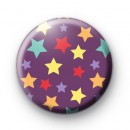 Purple Starburst Pin Badge
