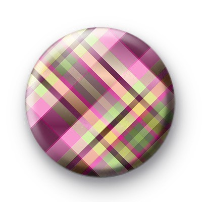 Green and Purple Plaid Badge