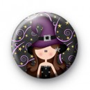Purple Halloween Witch Badge