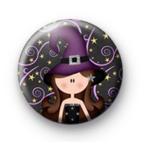 Purple Halloween Witch Badges