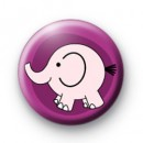 Cute Pink elephant Button badges