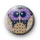 Purple eyed Owl Badge