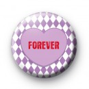 Purple Forever Heart Button Badges
