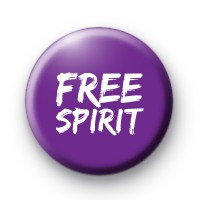 Purple Free Spirit Button Badges