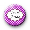 Purple Polka Dot Team Bride Badges