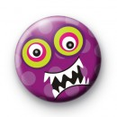 Purple Spotty Dotty Monster Badge