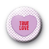 Purple True Love Heart Badge