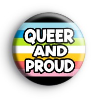 Queer And Proud Badge Button Badges
