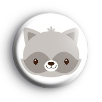 Adorable Raccoon Animal Badge
