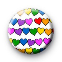 Rainbow love Hearts Love badges