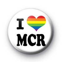 I Love MCR Rainbow Heart Badges