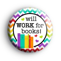 Rainbow Will Work For Books Badge