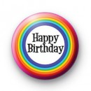 Rainbow Bday Badge