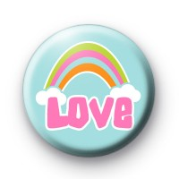 Rainbow Love Cloud 25mm Button Badge