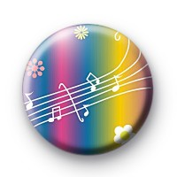 Rainbow Musical Notes Button Badges thumbnail