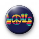 Rainbow Love Peace Badge