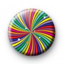 Funky Rainbow Swirl Button Badges