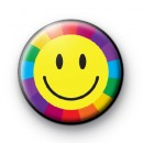 Rainbow Yellow Smiley Button Badges