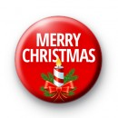 Red Candle Merry Christmas Badges