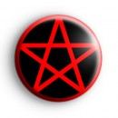 Red and Black Pentagram Badge