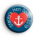 Heart and Anchor Hen Party Badge
