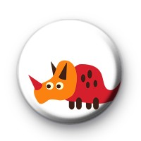 Red and Orange Dinosaur Badge