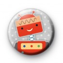 Cute Red Robot Badge