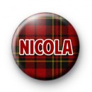 Red Tartan Name Badge