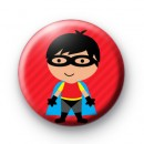 Cute Superhero Masked Button Badges