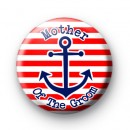 Red & white striped anchor mother of the Groom badge