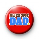 Red Awesome Dad Badges