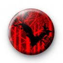 Red Halloween Gothic Bat badge