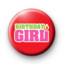Cute Red Birthday Girl Button Badges