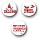 Set of 3 Festive Sayings Badges