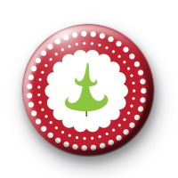 Red Festive Christmas Tree Badges