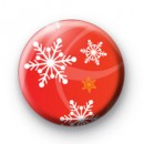 Red Christmas Snowflake badges